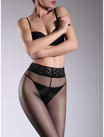 Giulia Impresso 20 transparente Hüftstrumpfhose nero