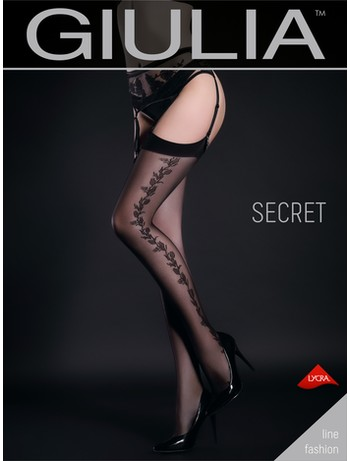 Giulia Secret 20 #3 gemusterte Strapsstrümpfe