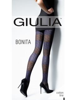 Giulia Bonita 150 #2 gemusterte Baumwollstrumpfhose
