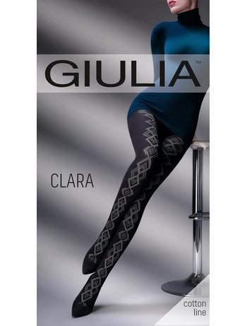 Giulia Clara 200 #2 gemusterte Baumwollstrumpfhose bei Hosieria - Nylons & Strumpfhosen