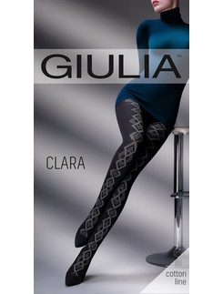Giulia Clara 200 #2 gemusterte Baumwollstrumpfhose