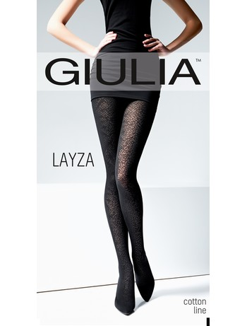 Giulia Layza 120 #3 wild gemusterte Baumwollstrumpfhose bei Hosieria - Nylons & Strumpfhosen