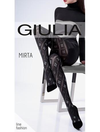 Giulia Mirta 100 #3 Gemusterte Strumpfhose mit Durchbruchoptik bei Hosieria - Nylons & Strumpfhosen