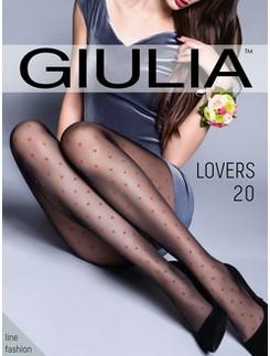 Giulia Lovers 20 #4 gemusterte Strumpfhose mit Herzen