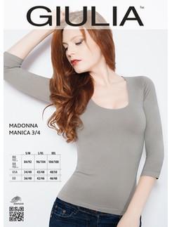 Giulia Madonna Mikrofaser Shirt mit 3/4-Ärmel