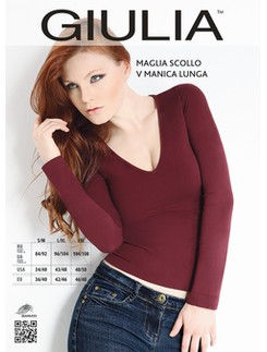 Giulia Maglia Langarm-Shirt mit V-Ausschnitt