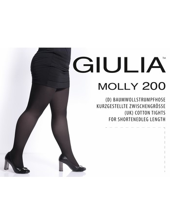 Giulia Molly 200 Baumwollstrumpfhose Komfortgroesse, im Nylon und Strumpfhosen Shop