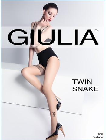 Giulia Twin Snake Tattoo Strumpfhose, im Nylon und Strumpfhosen Shop