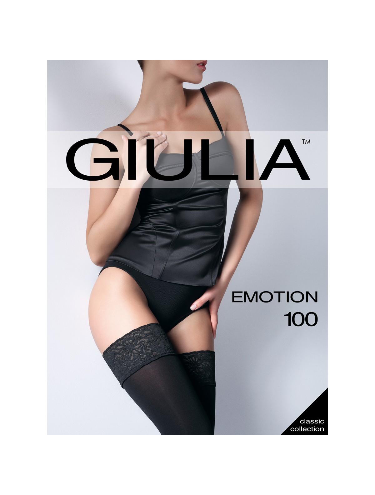 im Angebot helle n Farbe Bestbewerteter Rabatt GIULIA Emotion 100 blickdichte halterlose Strümpfe