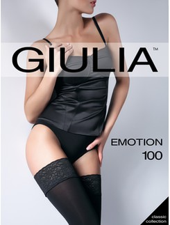GIULIA Emotion 100 Blickdichte halterlose Strümpfe
