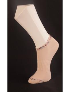 Giulia beige Sneaker Söckchen mit Plüschsohle