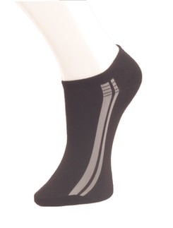 Giulia schwarze Sneakersocken mit Streifen