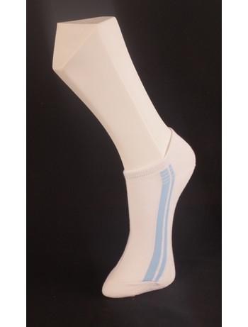 Giulia weisse Sneaker mit Streifen bianco
