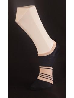 Giulia blaue gestreifte Baumwollsneakersocken