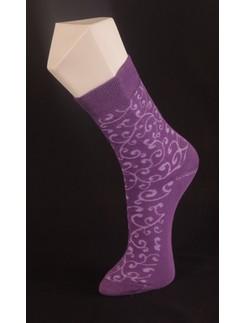 Giulia violett gemusterte Baumwollsocken