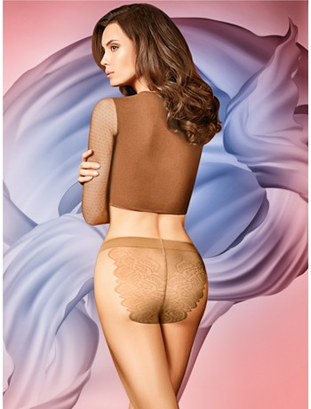 Giulia Bikini 20 transparente Strumpfhose honey