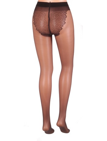 Giulia Bikini 20 transparente Strumpfhose nero