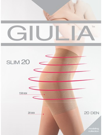 GIULIA Slim 20 Shaping Strumpfhose, im Nylon und Strumpfhosen Shop