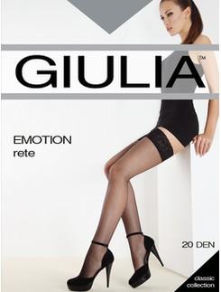 Giulia Emotion Rete halterlose Netzstrümpfe mit Spitzenabschluss