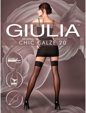 Giulia Chic 20 Calze Halterlose Nahtstrümpfe