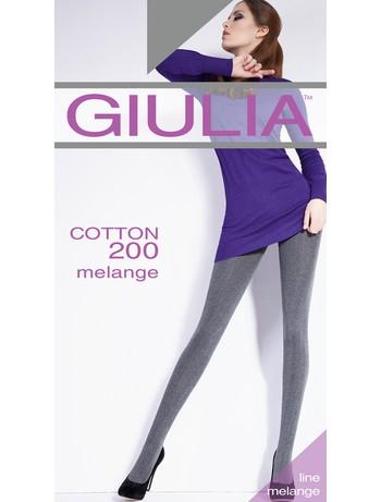 GIULIA Cotton 200 melange Strumpfhose, im Nylon und Strumpfhosen Shop