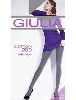 GIULIA Cotton 200 melange Strumpfhose
