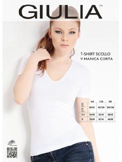 Giulia Microfaser Kurzarm T-Shirt mit V-Ausschnitt