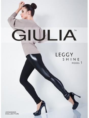 Giulia Leggy Shine Model 1 Leggings mit Kunstleder Details, im Nylon und Strumpfhosen Shop