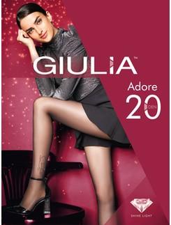 Giulia Adore 20 M2 - Lurex Muster - Silber Glanz