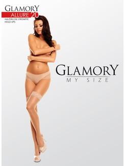 Glamory My Size Allure glänzende Halterlose Strümpfe