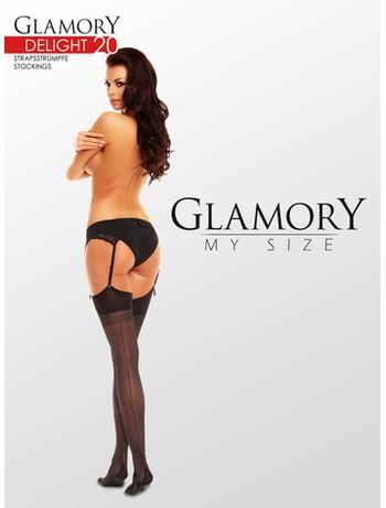 Glamory Delight 20 Strapstrümpfe mit Naht 20DEN