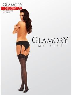 Glamory Delight 20 Strapstruempfe mit Naht