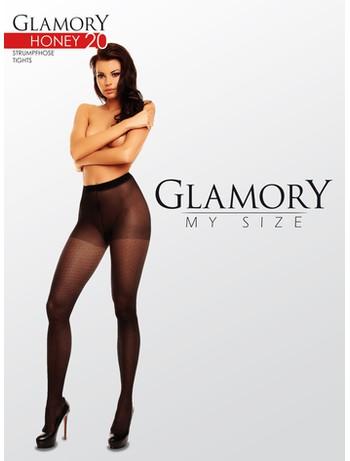 Glamory Honey 20 gemusterte Strumpfhose schwarz