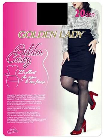 Golden Lady Golden Curvy 20 transparente Strump...