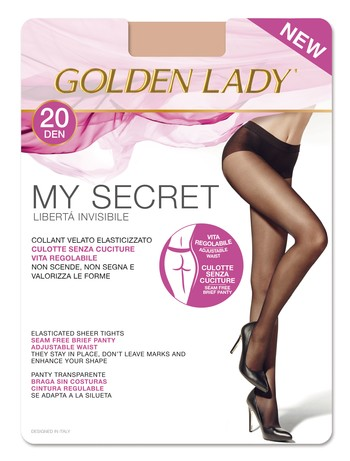 Golden Lady MySecret 20 nahtlose Feinstrumpfhose 20DEN