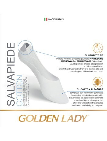 Golden Lady Salvapiede Cotton Füssling 2er Pack Baumwolle
