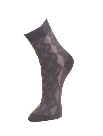 Giulia dunkelgraue Socken mit Rautenoptik iron
