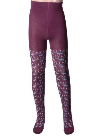 Hudson Kids Fashion Reindeer Strumpfhosen dusty violet