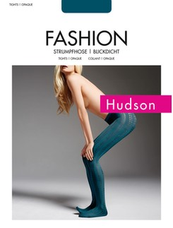 Hudson Graphic Rectangles feine Strumpfhose mit Muster