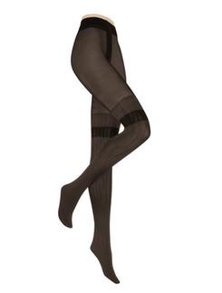 Hudson Damen Modern Stripes Strumpfhose Overknee-Optik