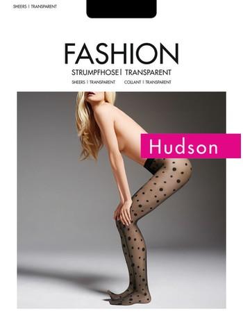 Hudson Dots transparente Strumpfhose