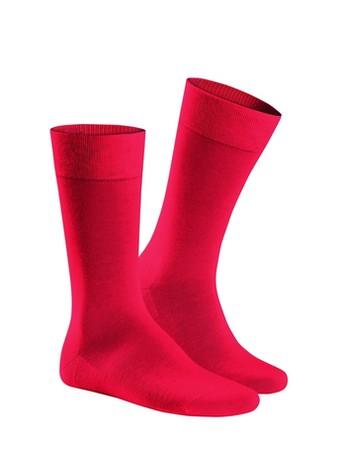 Hudson Relax Cotton Socken ohne Gummifäden Herren Rot Salsa