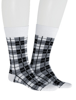 Hudson Sporty Checks Herrensocken