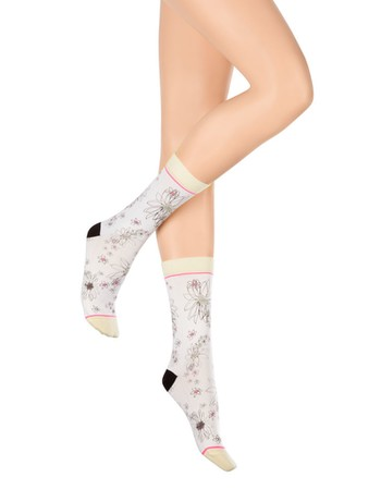 Hudson Flowers For You Socken offwhite