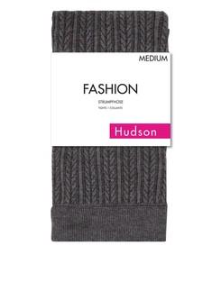 Hudson Damen Embraced Plaid Strickstrumpfhose mit Zopfmuster