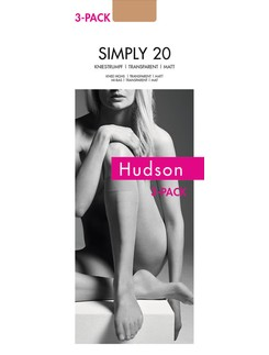 Hudson Simply 20 Kniestrumpf 3er Pack