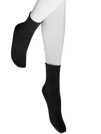 Hudson Relax Fine Rollrand Socken schwarz