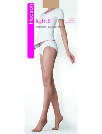 Hudson Light 8 ultratransparente Kniestruempfe, im Nylon und Strumpfhosen Shop