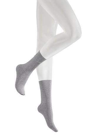 Kunert Velvet Melange Söckchen grey