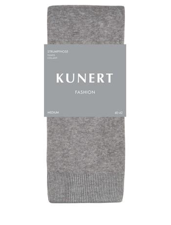 Kunert Fashion Elegant Rib Baumwollstrumpfhose platin mel